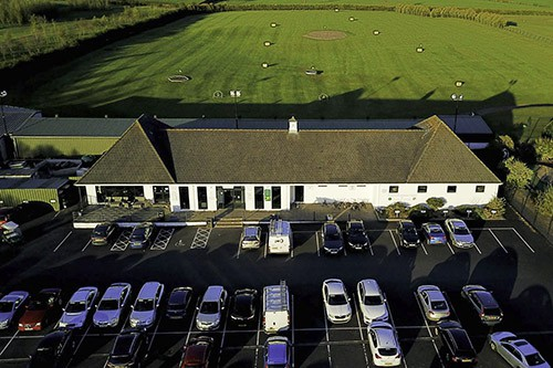Aerial View of Greenacres Golf Centre