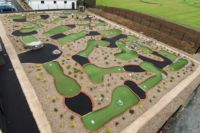 Aerial view of the Mini Golf Course