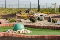 Water Feature on Mini Golf Course
